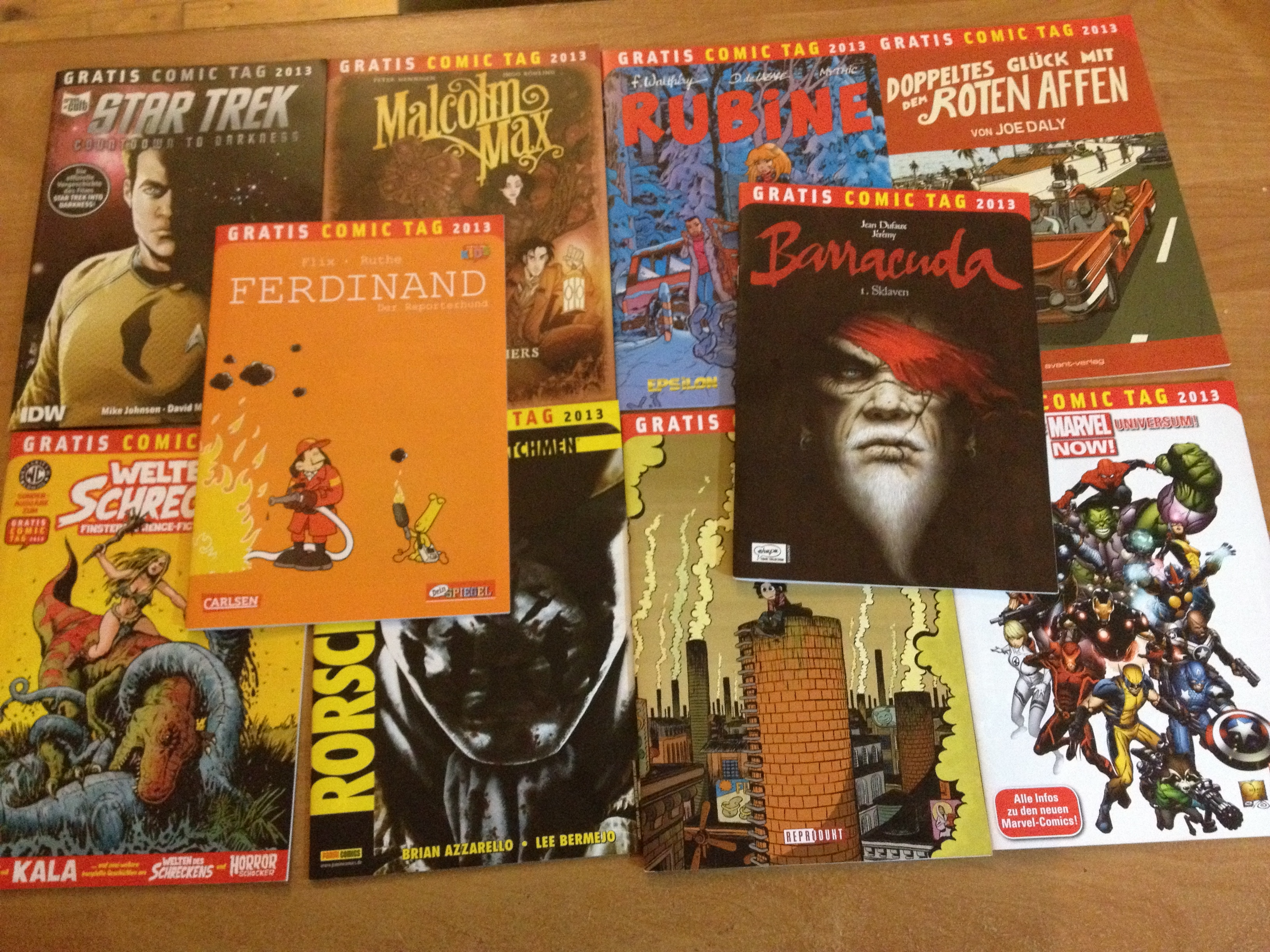Gratis Comic Tag 2013 – Teil 1: Marvel Now, Barracuda und Ferdinand